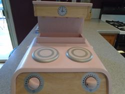 Wooden Tabletop Stove & Grill - $20