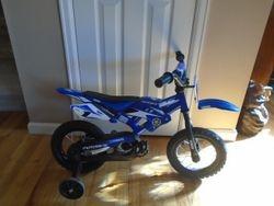 """Yamaha 12"""" Motocross Style Bike with Training Wheels - $35"""