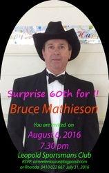 Bruce Mathieson 60th August 6 2016