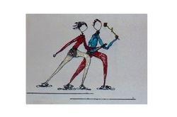 verliefd op de schaats.