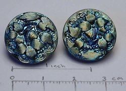 Trillium, contemporary buttons, Czech