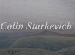 """Smoky Coulees (9 by 12"""" oil on canvas)"""