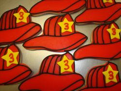 Fireman hat cookies $4 each