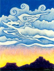 Cumulus Draconis, Oil Pastel, 11x14