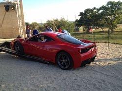 Ferrari 458 getting loaded