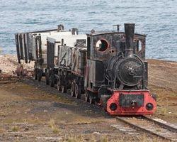 Mine ore train - abandoned