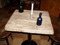 Table made from 1840s  privy wood.