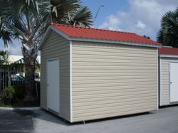10x12 with permatile roof and 8 foot walls