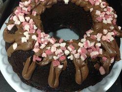 GF Peppermint Rum Chocolate Cake