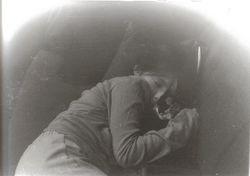 My litttle sister asleep with Daisy