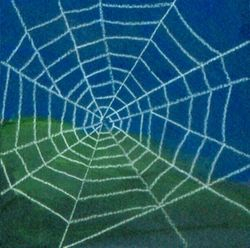 Web of Prosperity, Tempera, 4x4, Original Sold