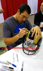 ST. LOUIS RAMS SAM BRADFORD SIGNED AUTO FULL SIZE PROLINE HELMET ROOKIE ROY 10 INSCRIPTION