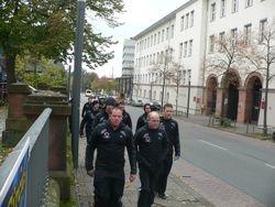 Team walking to the Stadium