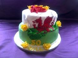 Welsh Themed Birthday Cake