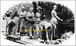 The brickyard workers. 1913