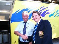 our trusty driver Jeremy with president Richard Lemon