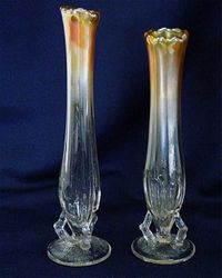 Twig vases marigold
