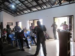 Apostle John Ebegbuna preaching at Takoradi, WOPIN conference