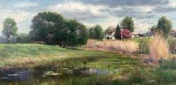 "Terrebonne Landscape I (2016, 15x30"")"