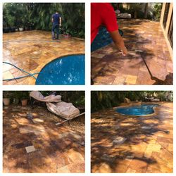 Pressure Cleaning and Sealing (Marble Stone)