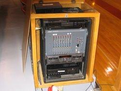 Equipment Rack by Scorer's Table