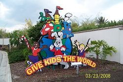 "The entrance to ""Give kids the world"" in Florida"