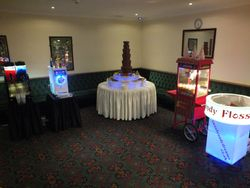 Large event package consisting of slush, ice cream machine, 6 tier chocolate fountain, popcorn and candy floss.
