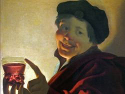 TerBrugghen, Boy with a Glass of Wine, 1623, private collection