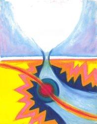 A Sudden Surprise, Oil Pastel, 11x14, Original Sold