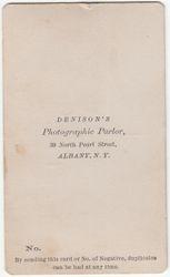 Denison, photographer of Albany, NY - back