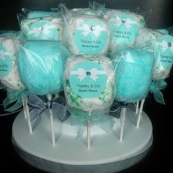 Custom cotton candy pops