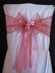 Dusky pink thin with ribbon