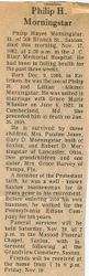 Morningstar, Philip H. 1982