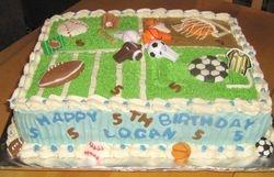 Four Sports Cake