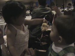 Sanna and Jack playing at the Banquet