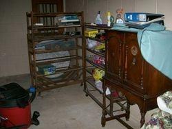 antique, primitive bakers racks, antique shoe racks