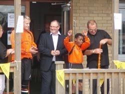 Councillor Gary Hague opens club