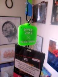 Webtoon Clip on Lanyard of New York Comic Con 2019 Badges