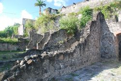 The ruins in St Pierre