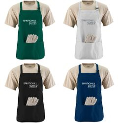 Aprons - 3 Compartments - Adjustable Neck Strap + Waist Tie! - Made of Thick Cotton Twill - Durable and Long-Lasting!