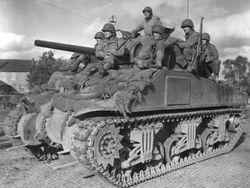 M4A3 in service: