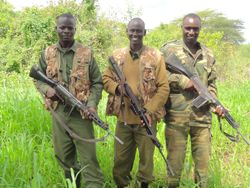 Paul on left. the trusted Rhino protectors in Meru