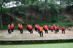 Master Wang Hai Jun and Students in Chenjiagou