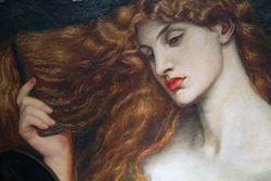 Rossetti, Lady Lilith, detail, Wilmington