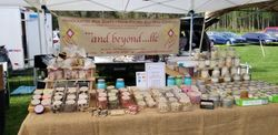 Full Table of Soaps, Candles, and Gift Sets