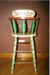 Back of high chair