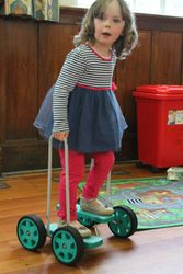 Walk-along treadmill walker