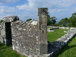 Nendrum Church and Sundial, Strangford, County Down