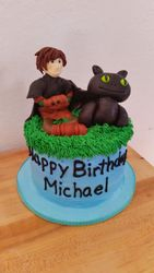 Dragon and Hiccup Cake
