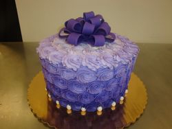 15 servings ombre rosettes with party bow $65
